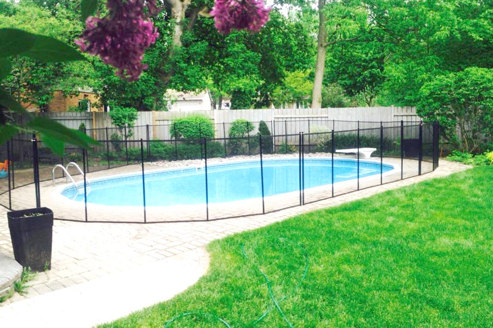 Baby guard swimming pool fence photo gallery for Cloture de piscine montreal